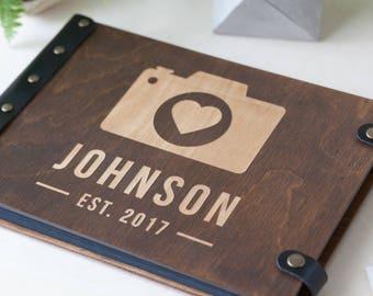 Photo Album, Wedding Photo Album, Wood Photo Album, Custom Wedding Album, Photo Guest Book, Personalized Album, Wedding Gift, Photo Book