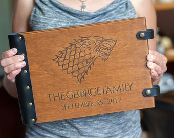 Game Of Thrones Stark Sigil Wedding Album Guest Book Custom