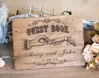 Wedding Guest Book, Wedding Album, Rustic Guest Book, Wedding, Guest Book, Wedding Guestbook, Guestbook, Custom Guest Book, Barn Wedding