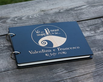 Jack and Sally, Simply Meant to Be, Tim Burton, Nightmare Before Christmas, Jack Skellington, Corpse Bride, Halloween, Wedding Guest Book
