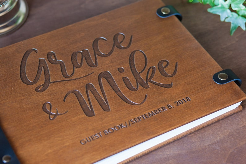 Wedding Guestbook Wedding Guest Book Guest Book Photo Guest Book Wooden Guest Book Wedding Scrapbook Wedding Album Guest Book Wedding