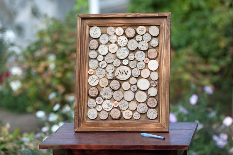 Guest Book Ideas Wooden Guest book Wedding Guest book 3d Guest Book Guestbook Picture Guest Book Frame Custom Guest book Drop box