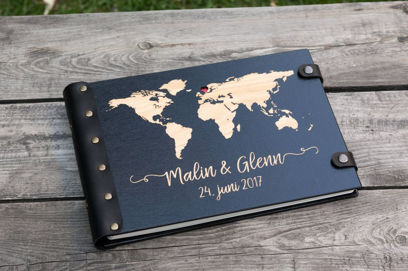 World Map Guest Book Adventure Wedding Guest Book Travel image 0