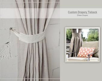 Custom Drapery Tiebacks Curtain Tie Backs Crafting Fee Labor Only