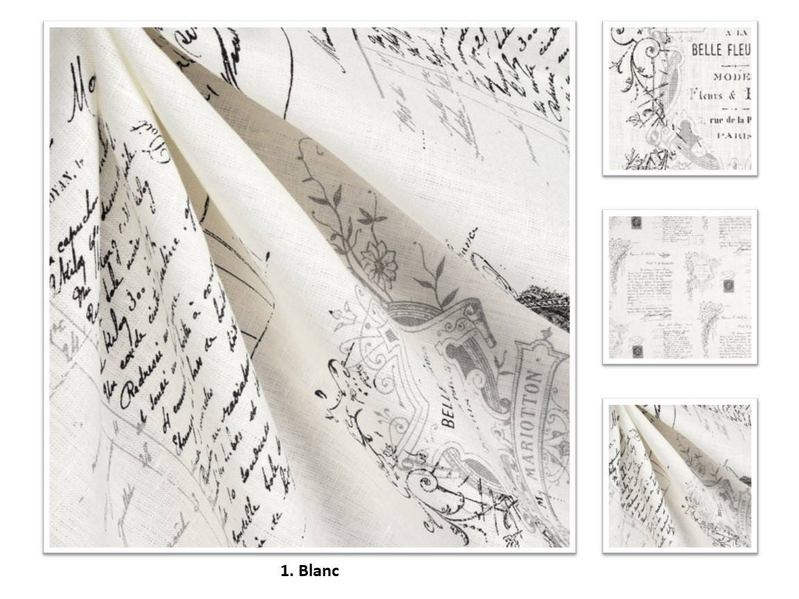 Stof France 2 colors; stof france manuscrit; linen; french toile; 50 100 extra