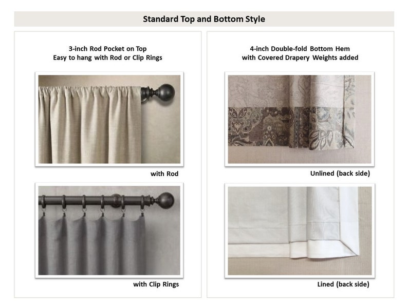 Premier Prints Vertical Collection Lined and Unlined Valances Cafe Curtains Striped Window Toppers Multiple Sizes