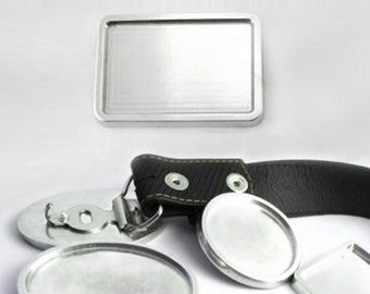 Blank Rectangular Belt Buckles, Make Your Own Custom Belt Buckles