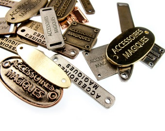 100pcs Custom Personalized Metal Clothing Tags Made to Measure