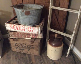 2  Vintage 7up Wood Crates~7up Crate~Antique 7up Crates
