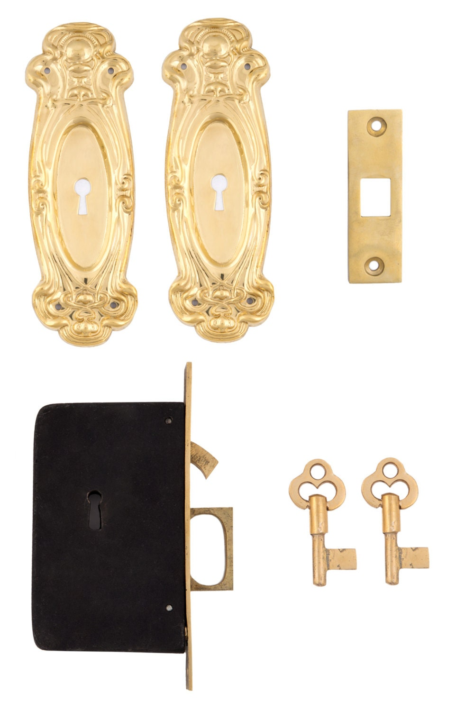 Avalon Pocket Door Lock Set Etsy