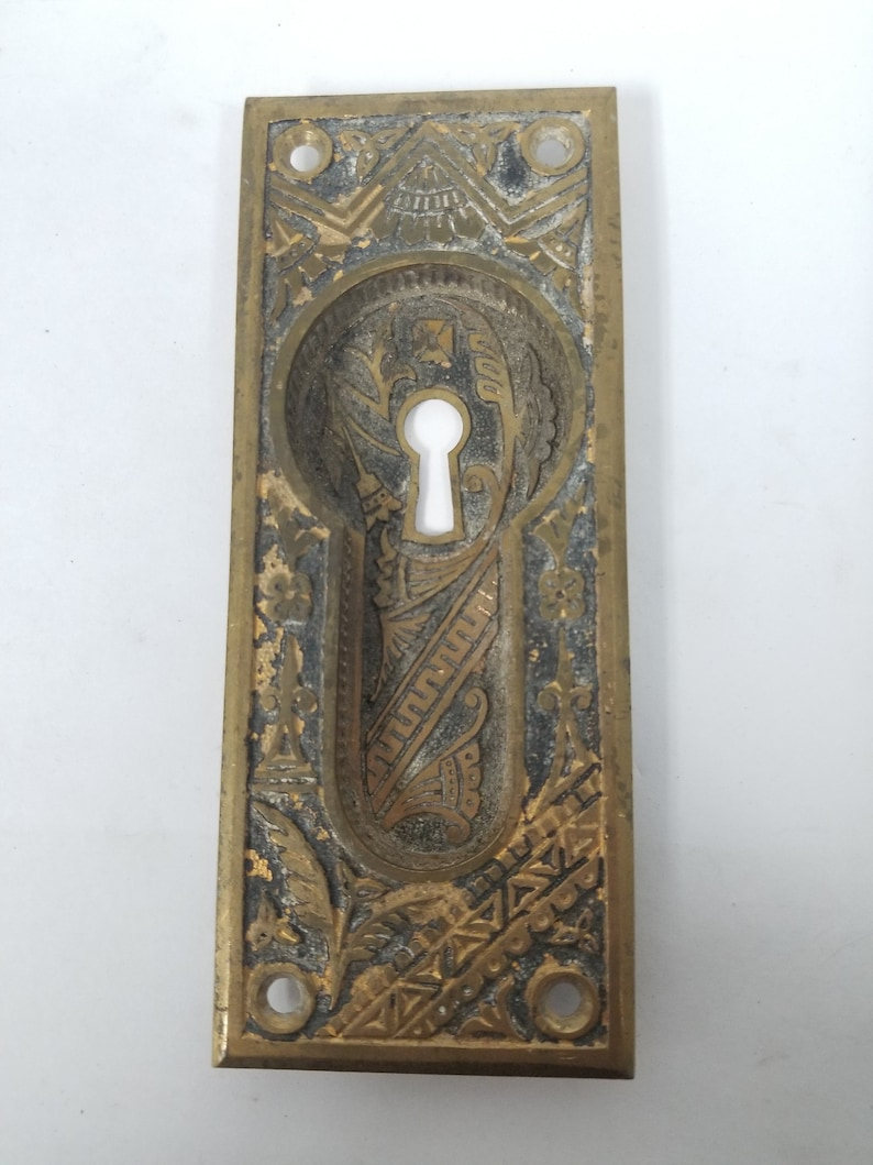 Antique Oriental Keyed Pocket Door Handle 600023