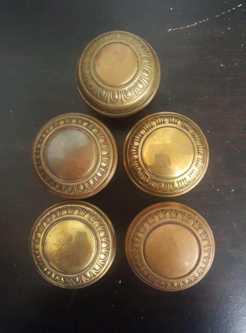 Egg /& Dart Antique Doorknobs In Brass 530855