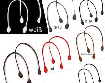 1 pair of pocket handles, imitation leather, pocket iron, handle, handle, 60 cm