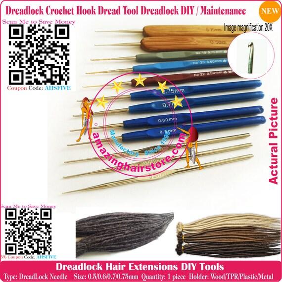 Brand New Dreadlocks Hair Extension Fine Crochet Hook Needles Etsy