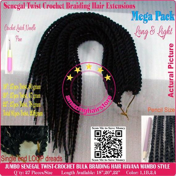 81pcs Senegalese Braids Senegal Twist Crochet Bulk Braiding Etsy
