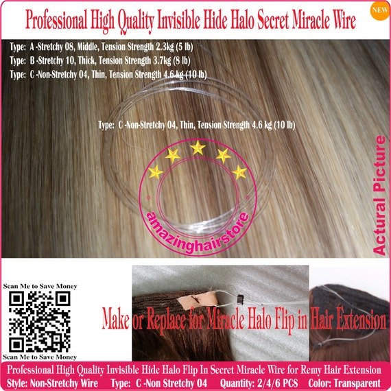12pcs 18 Invisible Stretchy Secret Halo Miracle Wire Etsy