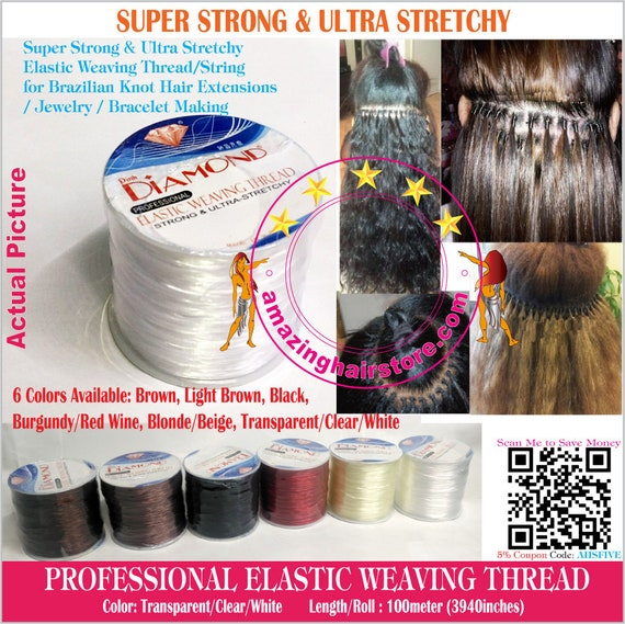 100 Meters3940 Inches Clear Brazilian Knot Hair Extensions Etsy