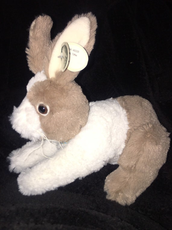 "NEW The Bearington Collection Beige White Bunny Rabbit Plush 10/"" Long"