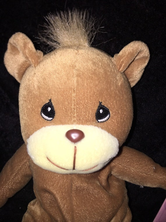1997 Prefious Moments Tender Tails Plush Tan Teddy Bear 7
