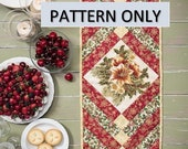 French Braid Quilt as you Go (QAUG) Christmas Table Runner Instant Download PDF Pattern and Instructions, beginner