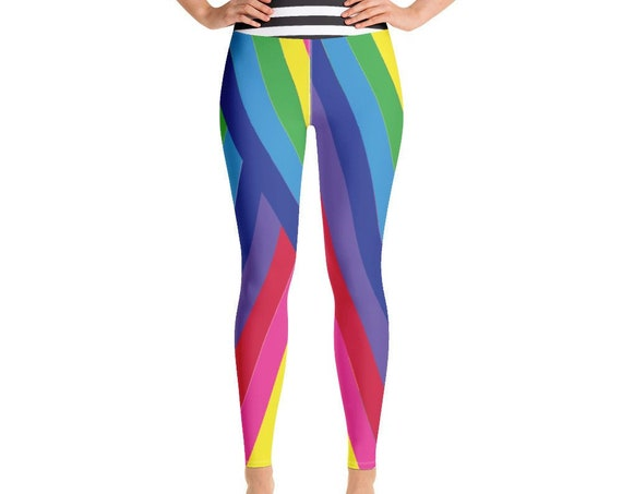 The Vivid Collection: Rainbow Striped Yoga Leggings