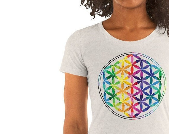 Flower of Life Sacred Geometry Ladies' short sleeve t-shirt