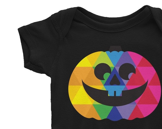 Infant Bodysuit Halloween Pumpkin One-piece for Baby Funny Pumpkin Face Jumpsuit Baby Gift 0-3 Months Halloween Costume