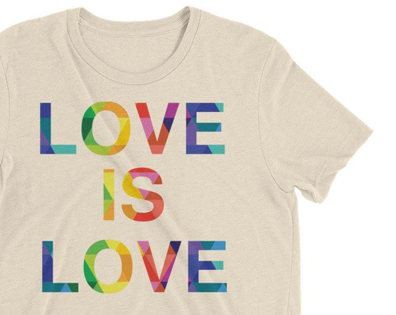 Unisex Short sleeve t-shirt Love is Love and Love Wins Special Edition! Love is Love Rainbow Pride Tees LGBT Equality Apparel