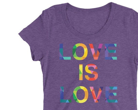 Ladies' short sleeve t-shirt Special Edition! Love is Love Rainbow Pride Tshirt Gay Lesbian Tees LGBT Equality Apparel Love Gifts