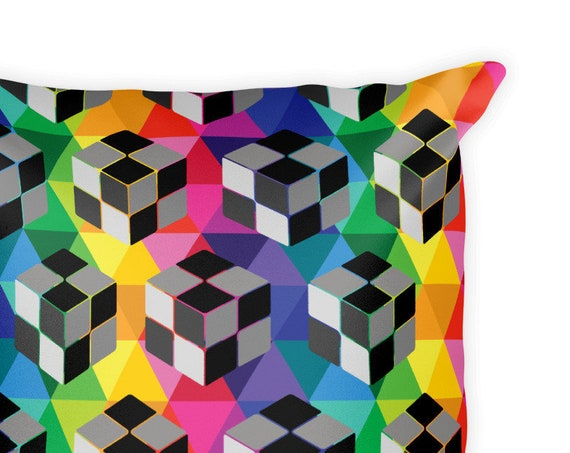 Double Sided 3D Cube Square Pillow and Eyeball Pillow