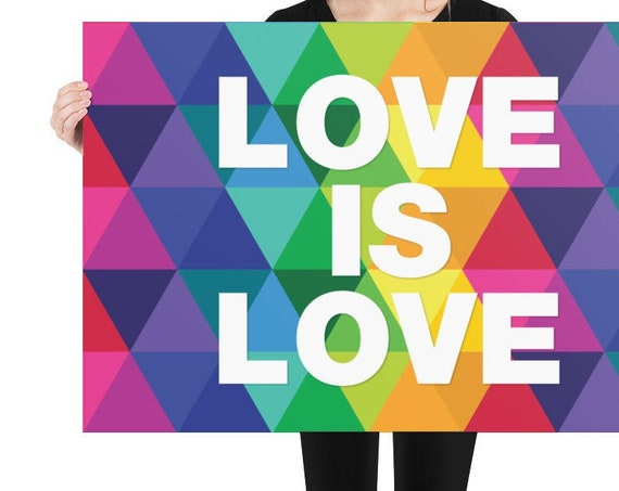 The BIG Love is Love Rainbow Poster - Cute Love Posters with Quotes