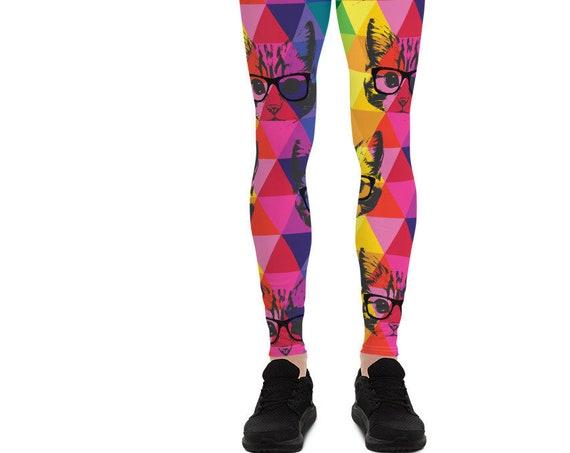 Colorful Cat's Men's Leggings