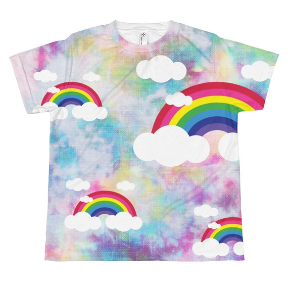 Colorful Rainbow All-over youth sublimation T-shirt Design by Hider House