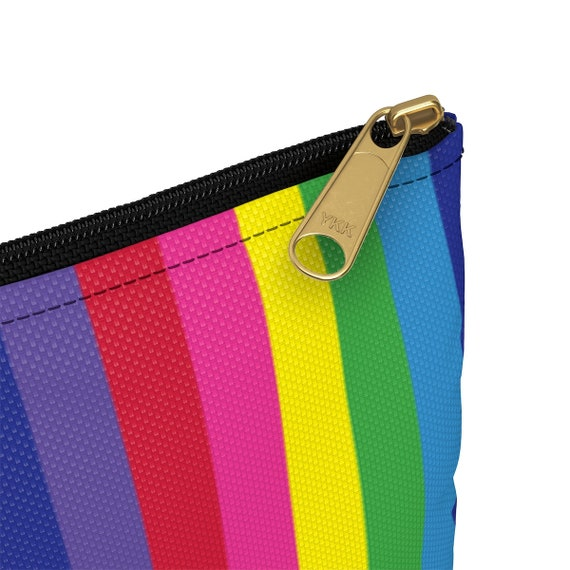 The Vivid Collection: Rainbow Striped Accessory Pouch