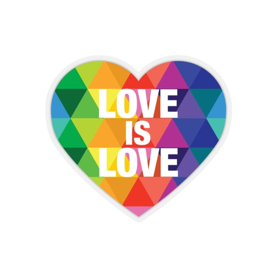 Love is Love Kiss-Cut Stickers
