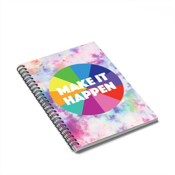 Make It Happen Spiral Notebook - Ruled Line