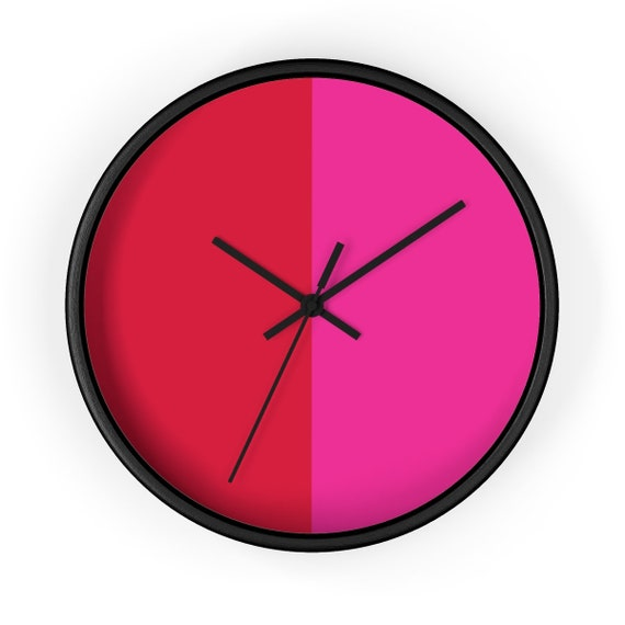 Red + Pink Two Toned Wall clock