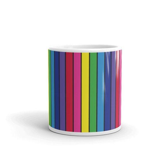 The Vivid Collection: Rainbow Striped Mug
