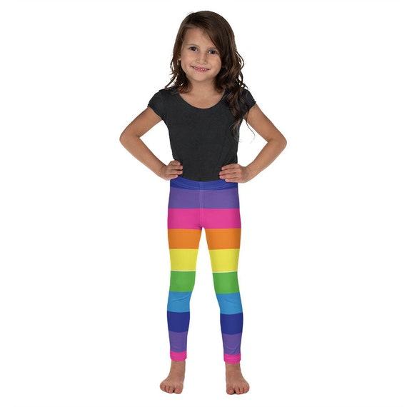 Rainbow Striped Kid's Leggings