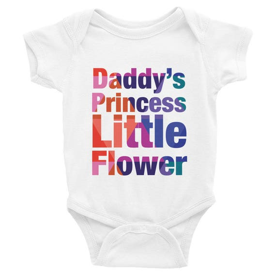 Infant Bodysuit - Daddy's Princess Little Flower Colorful Snapsuit One-piece