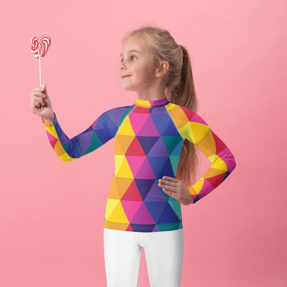 Kids Rash Guard - Rainbow Top - Multicolored Shirt
