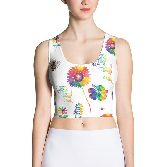 The Floral Collection: Spring Flowers Crop Top