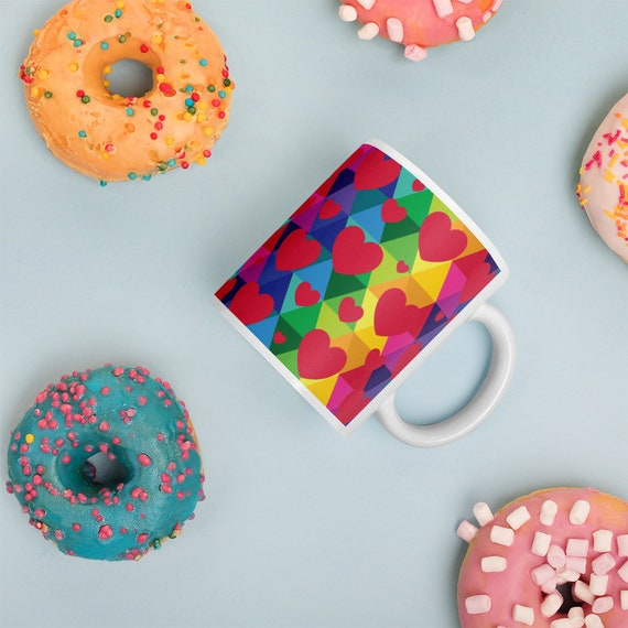 Colorful Heart Mug
