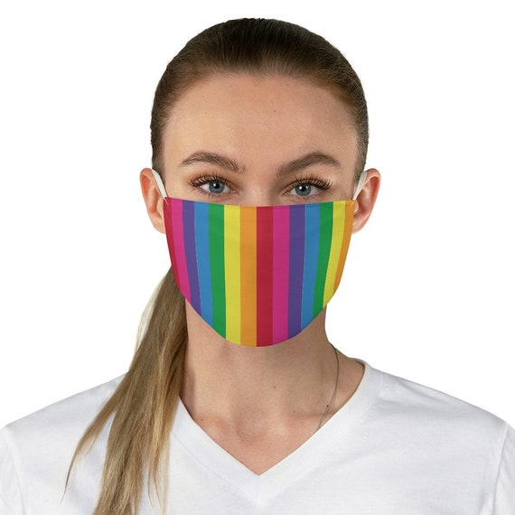 Colorful Striped Fabric Face Mask
