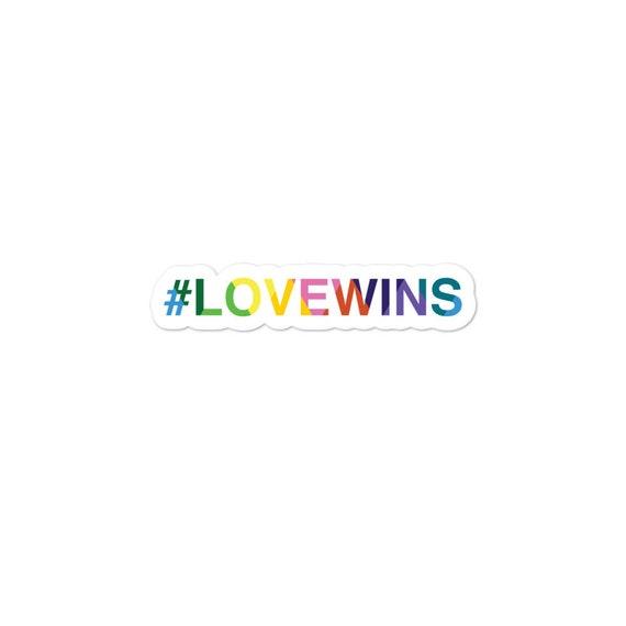 Love Wins Bubble-free stickers