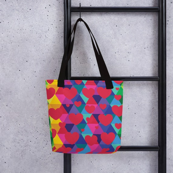 Colorful Hearts Tote bag for Your Valentine or Lover of Hearts