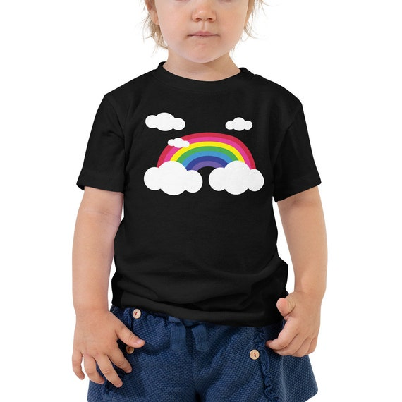 Rainbow and Clouds Toddler Short Sleeve Tee