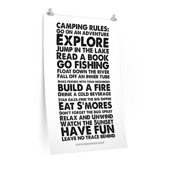 Camping Rules Premium Matte vertical posters