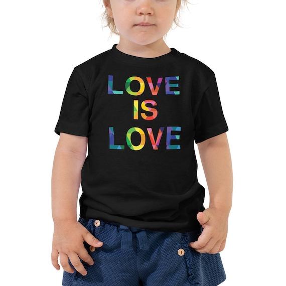 Unisex Toddler Love is Love Shirt Short Sleeve Tee