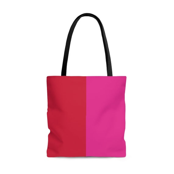 Red + Pink Tote Bag